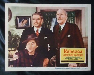 Original 1956 ***REBECCA*** Re-Release 11x14 Lobby Card HITCHCOCK NSS LC R56/427
