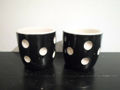 T G Green Cornish Black Domino Pair Eggcups Cornishware Made In England Egg Cup