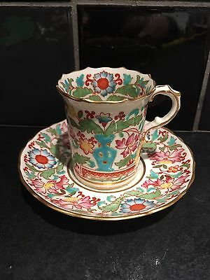 Vintage Hammersley Coffee Can Cup & Saucer Handpainted England