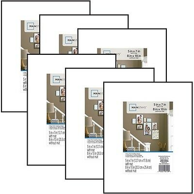 Format Picture Frame Wall Gallery Home Decor Photo Frames 8x10 Matted Set of 6