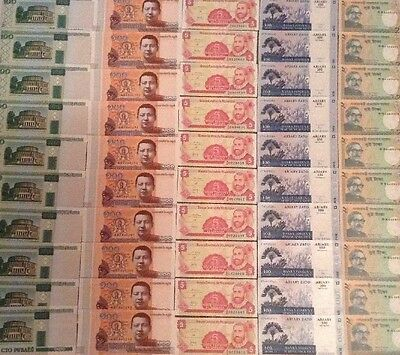 World Banknote Wholesale Lot. 50 X Banknotes. 5 Different Countries.