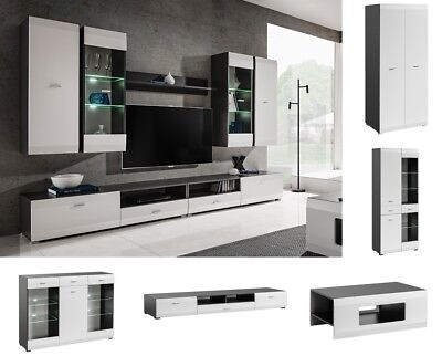 Modern Living Room Furniture Entertainment Center Wall Unit Media TV Stand LED