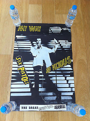 Sid Vicious My Way Promo Poster Ultra Rare Sex Pistols Original Not Reprint