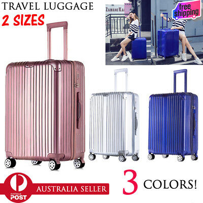 NEW Travel Luggage Set Lightweight Trolley Suitcase Lock Carry On Bag Hard Case