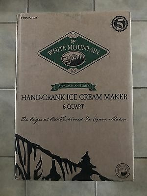 White Mountain PBWMIMH612 Appalachian Series 6 Quart Hand Crank Ice Cream Maker