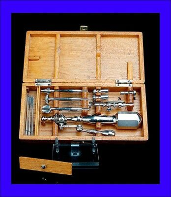 Rare Antique Mechanical Trepanation Set. Medical Use. Complete. Circa 1900