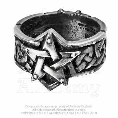 Alchemy Gothic Celtic Theurgy Ring - Goth,Pentagram,Punk,Metal,Pewter,Jewellery
