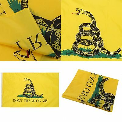 Poly Yellow Flag DONT TREAD ON ME Gadsden Culpeper TEA PARTY FLAG 3X5 UK