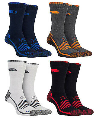 Storm Bloc - 2 Pack Mens Durable Heavy Duty Outdoor Padded Cotton Hiking Socks