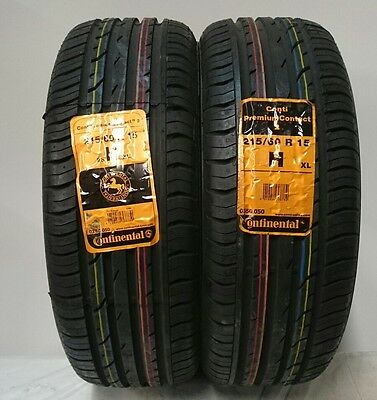 2 X 215/60/15 98H Continental Contipremium Contact 2 Xl New Tyres