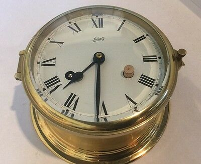 Vintage Brass Schatz Germany Ship Clock