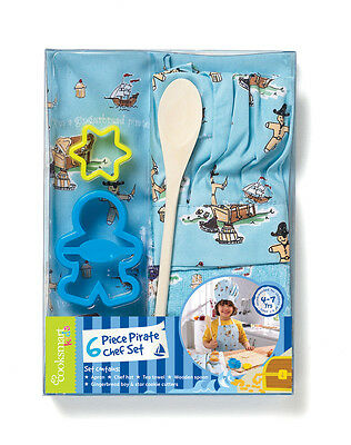 Cooksmart Kids 6 Piece Gingerbread Pirate Chef Set - Children's Baking Set
