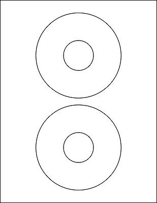 200 Avery Sized 5931 & 8931 CD / DVD Labels 100 2-Up Matte White Sheets