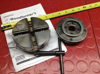 Axminster 100mm Self Centering Scroll Chuck Dovetail Jaws Woodturning Wood Lathe