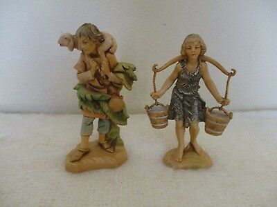Fontanini 5 in. Vintage Figures Lot of 2 Italy