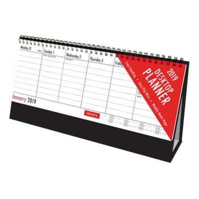 New 2018 Desk-Top Flip Calendar Week To View Stand Up Office Home Planner