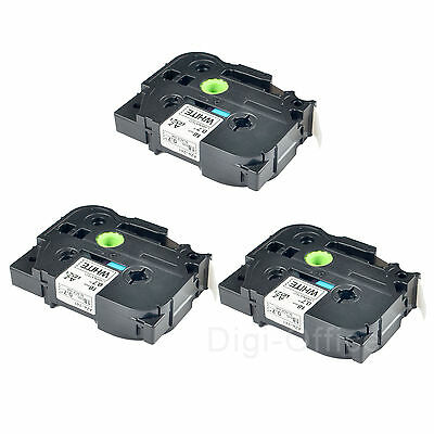 3 Pack TZ 251 TZe 251 Black on White Label Tape for Brother P Touch PT-2730 24mm