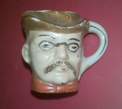 Teddy Roosevelt Figural Toothpick Holder - Early 1900s? - Rough Rider