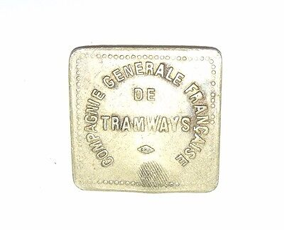 Antique Rare Metal French Compagnie Generale Francaise Tramways 20c Token