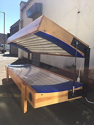 16T Pine Laydown 100watt double sunbed solarium mess for del£ most of uk 10355