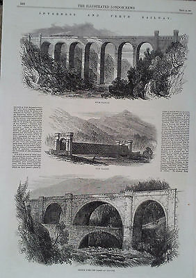 1863 Print Views Along The Inverness And Perth Railway