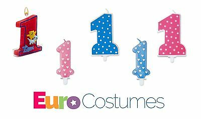 Number 1 1st Birthday Candle 5 Designs Cake Decoration Childrens Kids Party