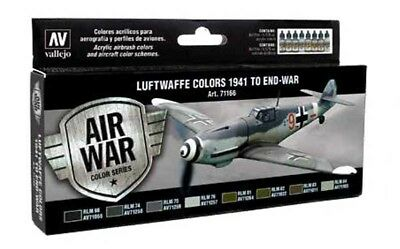 (15,18€/100ml) Vallejo Model Air Luftwaffe 1941 to End-War Set Airbrush Farbe