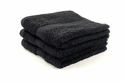 12 X Luxury Black Hairdressing Towels / Beauty / Barber / Salon 500Gsm 50 X 85Cm