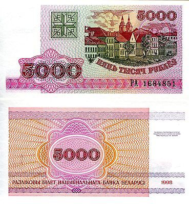 BELARUS 5000 Rubles Banknote World Paper Money UNC Currency Pick p17 Bill Note
