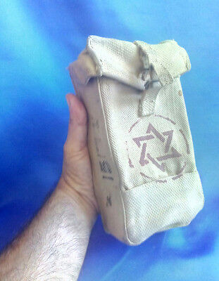 Israel IDF Army Old Large First aid Pouch W ZAHAL Signs & Red Magen David