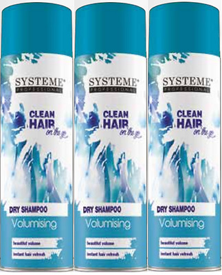 Systeme Professional Clean Hair Volumising Dry Shampoo 200ml (3 PACK)
