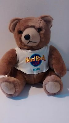 Hard Rock Cafe Rome Collectable Souvenir Memorabilia Teddy Bear