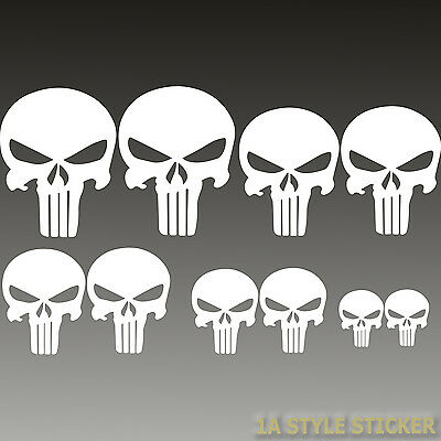 The Punisher Aufkleber Set 10 Stück Skull Sticker motorrad skull devil 666 decal