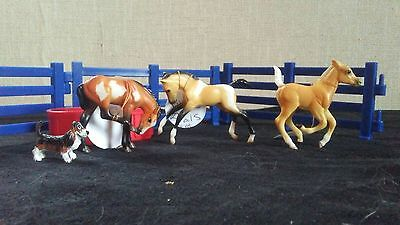 Puppies & Foals Set - Breyer Stablemates Lot of foals & accessories, EUC!