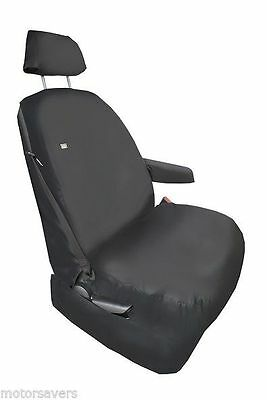 Vw Crafter 2015- Drivers Seat Cover Inc Headrest & Armrest Black Heavy Duty