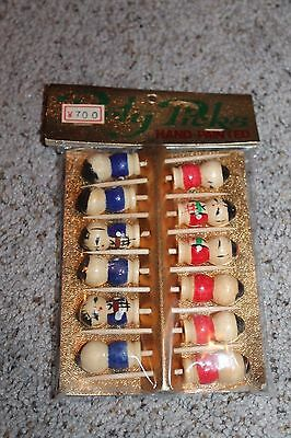 NEW Rare Hand painted Japanese Kokeshi doll Party cocktail Picks