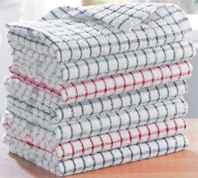 3, 12 Pack Terry 100% Cotton Tea Towels Set Kitchen Dish Cloths Cleaning Drying