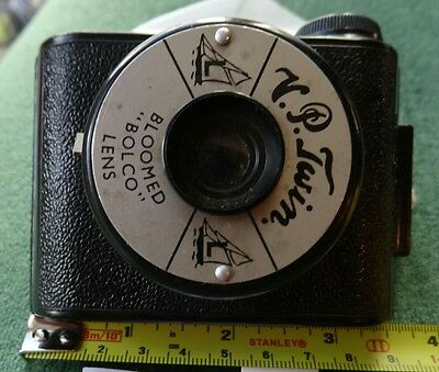 Vintage V.P. Twin Camera Bakelite with Bloomed Bolco Lens. 1950s English Made