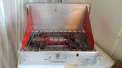 Vintage 1963 442A Aluminum Coleman Redwing Suitcase Camp Stove Made in USA