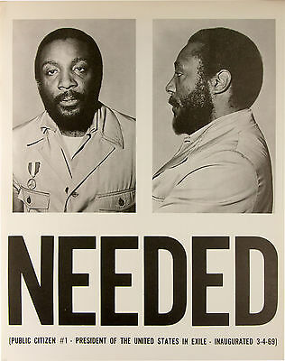 Dick Gregory Peace & Freedom Party post-1968 campaign poster