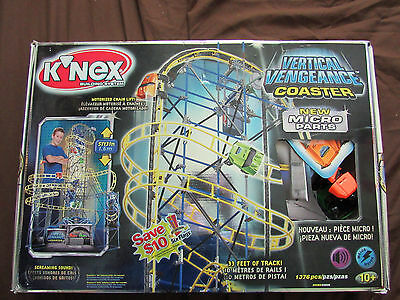 KNEX Building System VERTICAL VENGEANCE Coaster 33 FT Micro Parts 50080