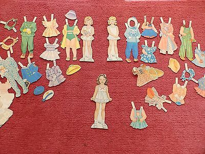 Vintage Paper Dolls and clothes - Patty Peggy & Polly - 3 little sisters 1940s?