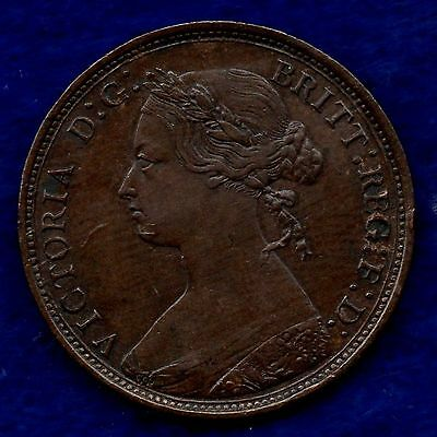 Great Britain, Victoria, 1877 Halfpenny, Better Grade (Ref. c5908)