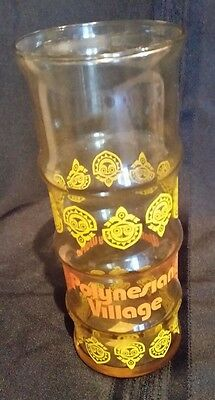 Walt Disney World Tiki Polynesian Village Glass Vintage 1970