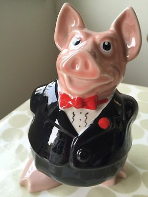 Vintage collectable Sir Nathaniel Wade porcelain china NatWest Bank pig moneybox