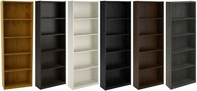 5 Shelf Bookcase Shelves Bookshelf Bookcases Book Case Shelving Bookshelves NEW