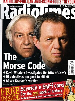 RARE!! RADIO TIMES 2011 JOHN THAW & KEVIN WATELY scratch 'n sniff included - NEW
