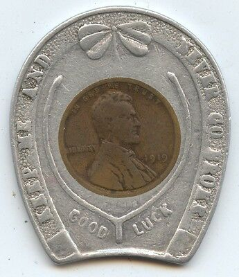 Good Luck Encased 1919 Lincoln 1C (#7583) Std. Clothing Co. Prov. RI.