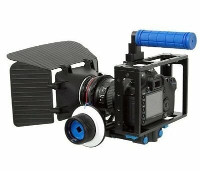 SunSmart DSLR Camera Rig Cage Set 15mm rod with Matte Box, DSLR Rig Cage and for