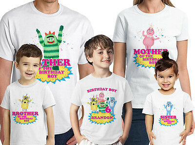 Yo Gabba Gabba Shirt Custom Name-Age Birthday Shirt  Personalized Family Tee